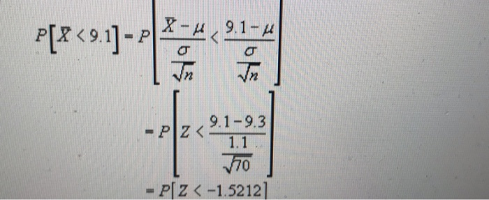 p[86911-22 1 - 14 9.1-9.3 - PIZ< 1.1 70 - P[Z< -1.52121
