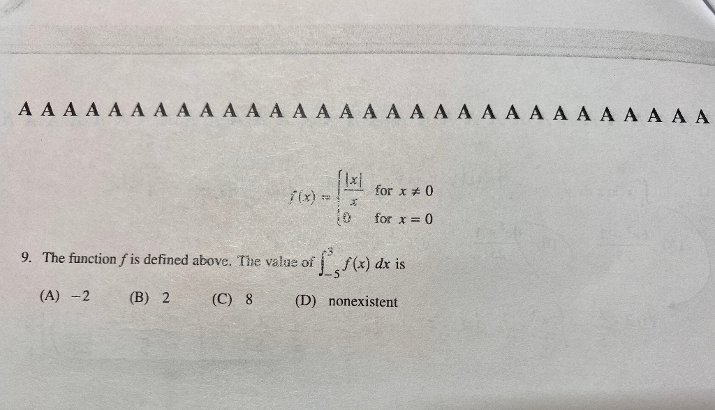 ??? ? ? ? ? ? ? ? ? ? ? ? ? ? ? ? ? ? ? ? ? ? ? ? ? ? ? ? for x40 for x = 0 9. The function f is defined above. The value of