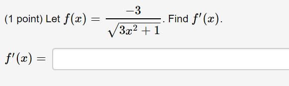 (1 point) Let f(x) = wonini Find f(a). f(x) =