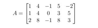 A= ?i 1 2 4 4 8 -1 0 -1 5 3 8 -2] 5 3