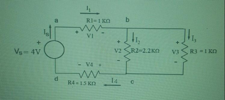 Ri=1 KO Vo=4V O V2 SR2=2.2K0 V3 SR3 - I KO w R4 = 1.5 KO